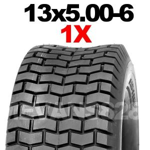 13x5.00-6 MOWER TYRE FOR RIDE ON LAWN MOWERS.